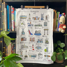 Load image into Gallery viewer, Plymouth A-Z Tea Towel