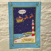 Load image into Gallery viewer,  Smeaton's Greetings 'Hoe Hoe Hoe' Christmas Tea Towel