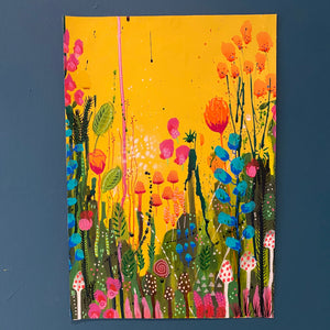 Floral Abstract Original Painting. Number 7