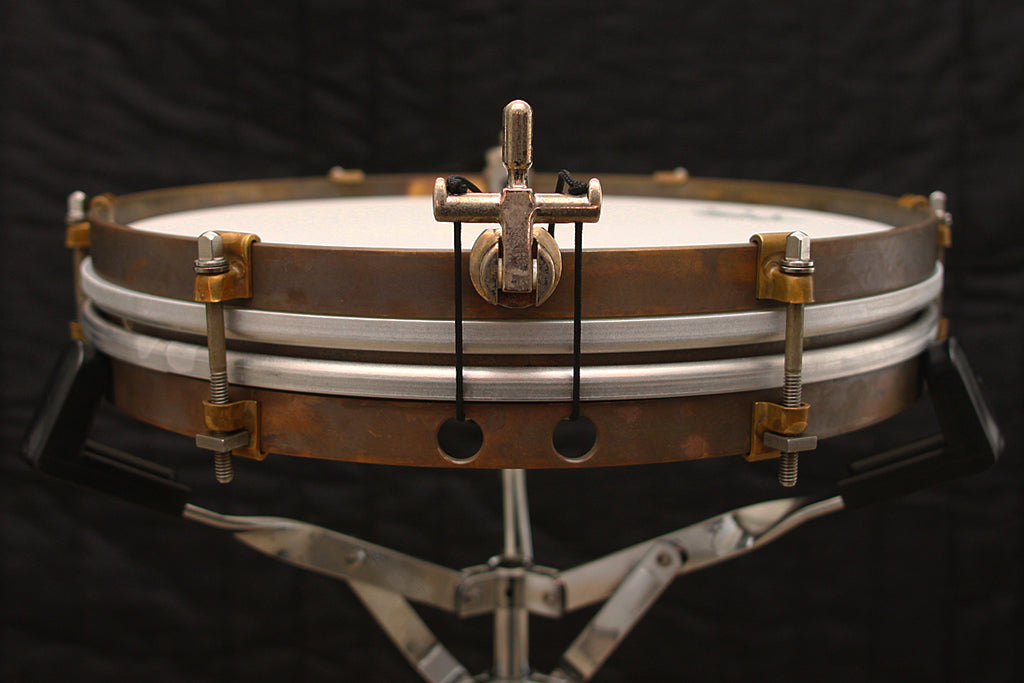 "A & F Drum Co 1.5"" x 12"" Raw Brass Pancake Snare"