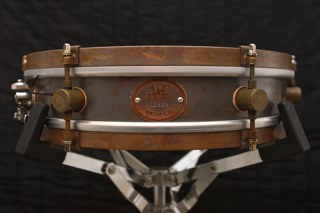 "A & F Drum Co Rude Boy 3"" x 13"" Raw Brass Snare"