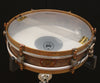 "A & F Drum Co Rude Boy 3"" x 13"" Raw Brass Snare with Internal Snare"