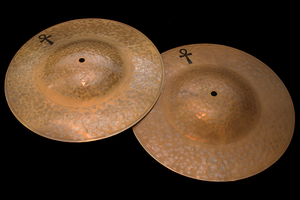 "Sabian / A & F Drum Co ANKH 14"" Light & Medium Brass Hats (807 & 942g)"