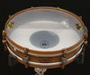 "A & F Drum Co Rude Boy 3"" x 14"" Raw Brass Snare with Internal Snare"
