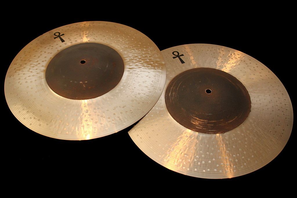 "Sabian / A & F Drum Co ANKH 16"" Bronze Hats (1241 & 1410g)"