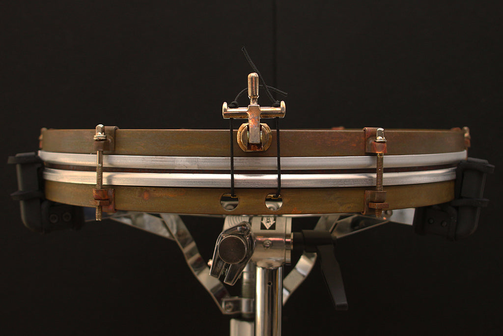 "A & F Drum Co 1.5"" x 16"" Raw Brass Pancake Snare"