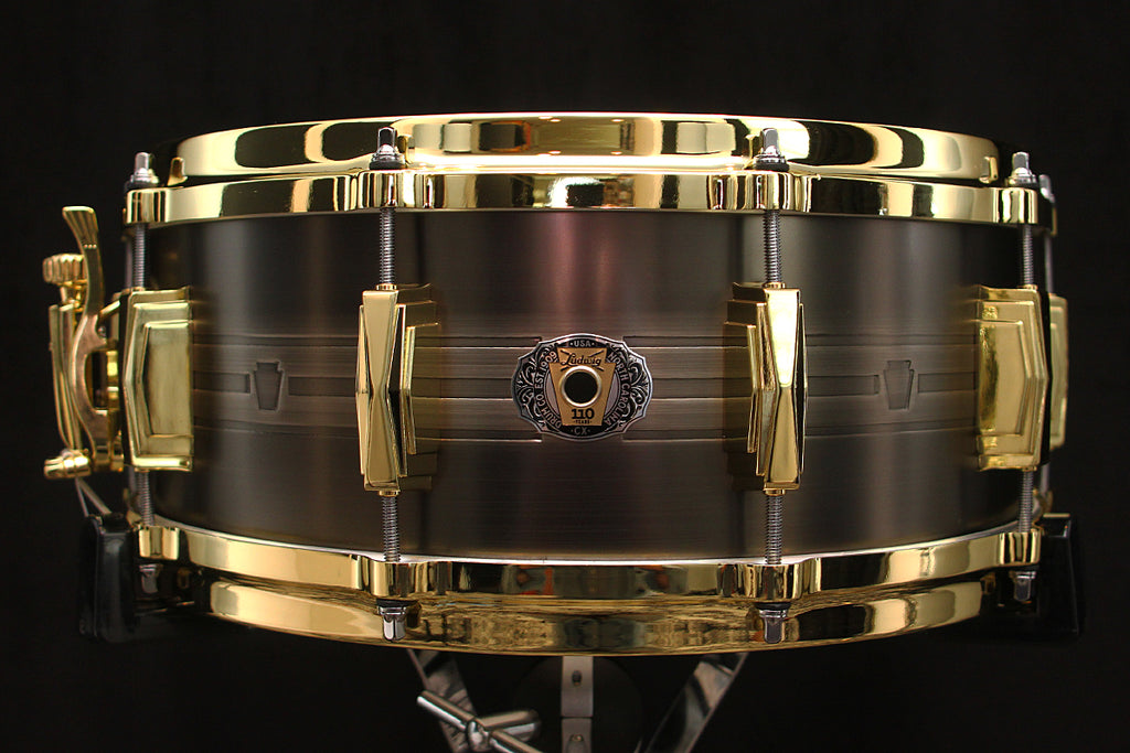 "Ludwig 110th Anniversary Heirloom Black Brass 5.5"" x 14"" Snare"