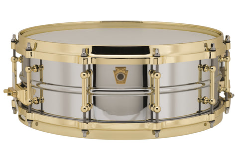"Ludwig Chrome Plated Brass 5"" x 14"" Snare with Polished Brass Hardware LB400BBTWM"