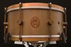 "A & F Drum Co 6.5"" x 14"" Raw Brass 8-Lug Snare"