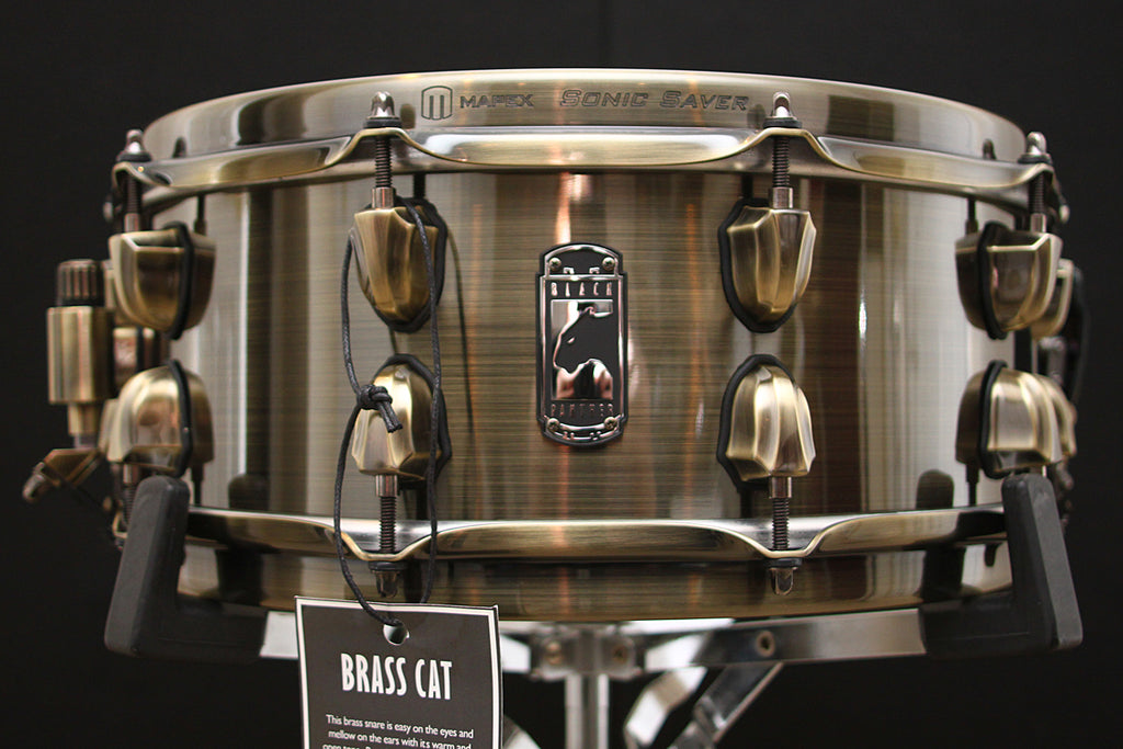 "Mapex Black Panther 5.5"" x 14"" Brass Cat Snare"