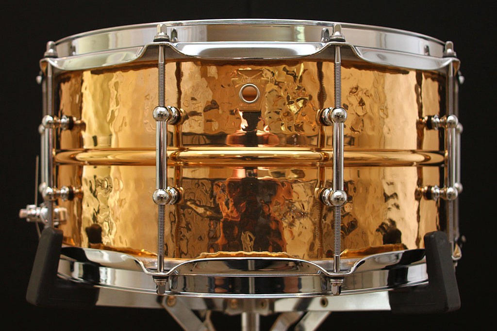 "Ludwig Hammered Bronze 6.5"" x 14"" Snare LB552KT"