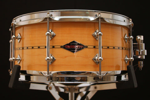 "Craviotto Limited Edition 6"" x 14"" Solid Maple Snare with Inlay"