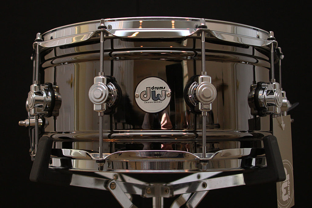 DW Design Series Black Nickel Over Brass Snare