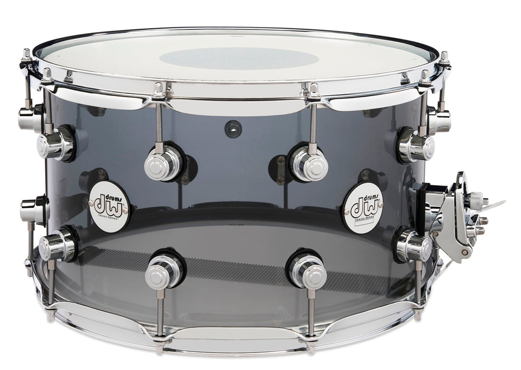 "DW Design Series 8"" x 14"" Smoke Acrylic Snare"