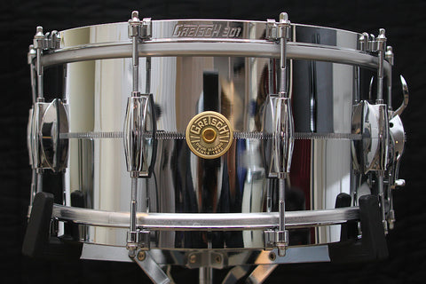 "Gretsch USA 6.5"" x 14"" Limited Edition Chrome over Brass Snare"