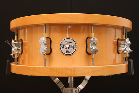 "PDP Concept Series 20-Ply Maple 5.5"" x 14"" Snare with Wood Hoops"