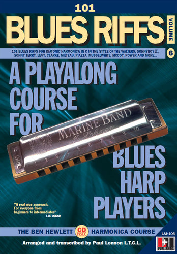 101 Blues Riffs harmonica course. Learn harmonica online. Download harmonica books.
