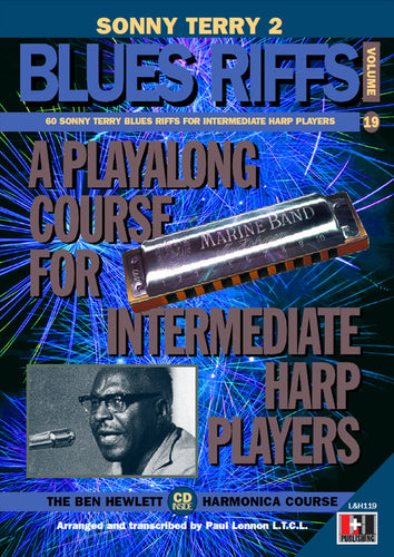 Sonny Terry 2 Blues Riffs harmoniva course. Learn harmonica online