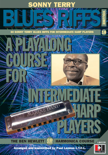Sonny Terry Blues Riffs harmonica course. Learn harmonica online