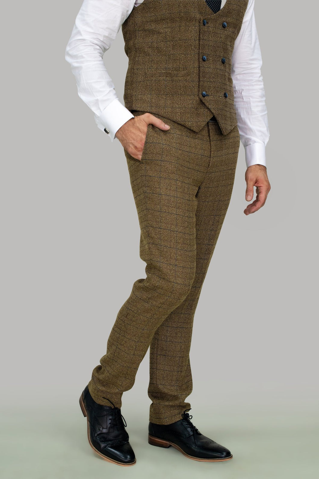 Brown Check Trouser