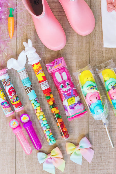Sparkle In Pink Easter rain boot filler ideas