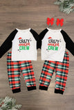 """Crazy Cousin Crew"" Buffalo Plaid Pajamas - Sparkle in Pink"