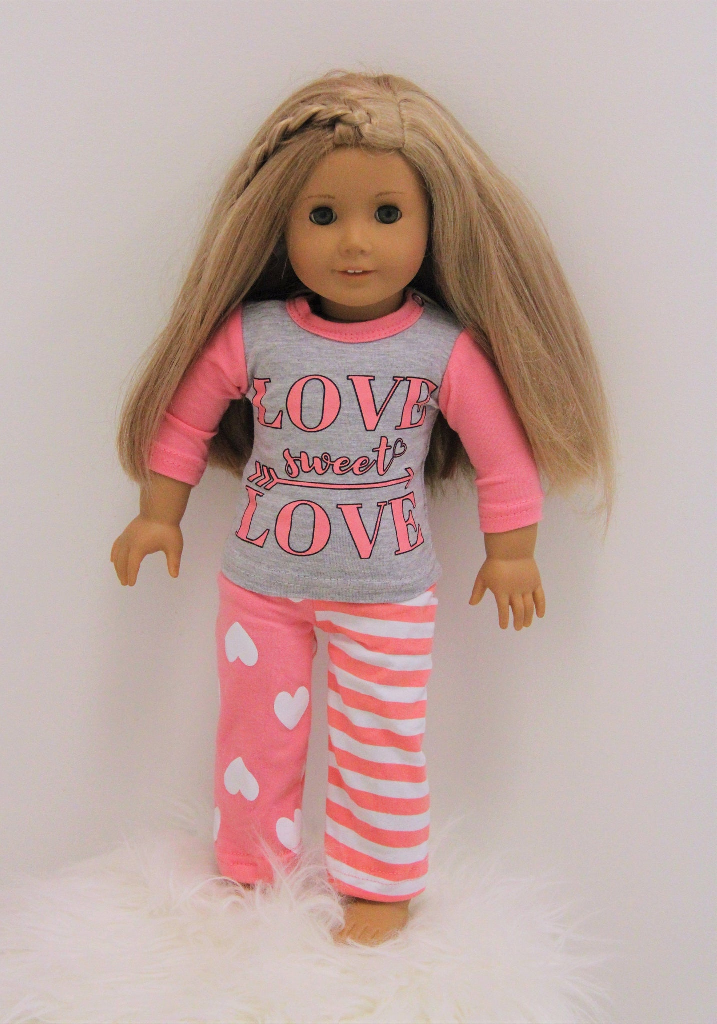 "Doll & Me - ""Love Sweet Love"" Jammies - Sparkle in Pink"