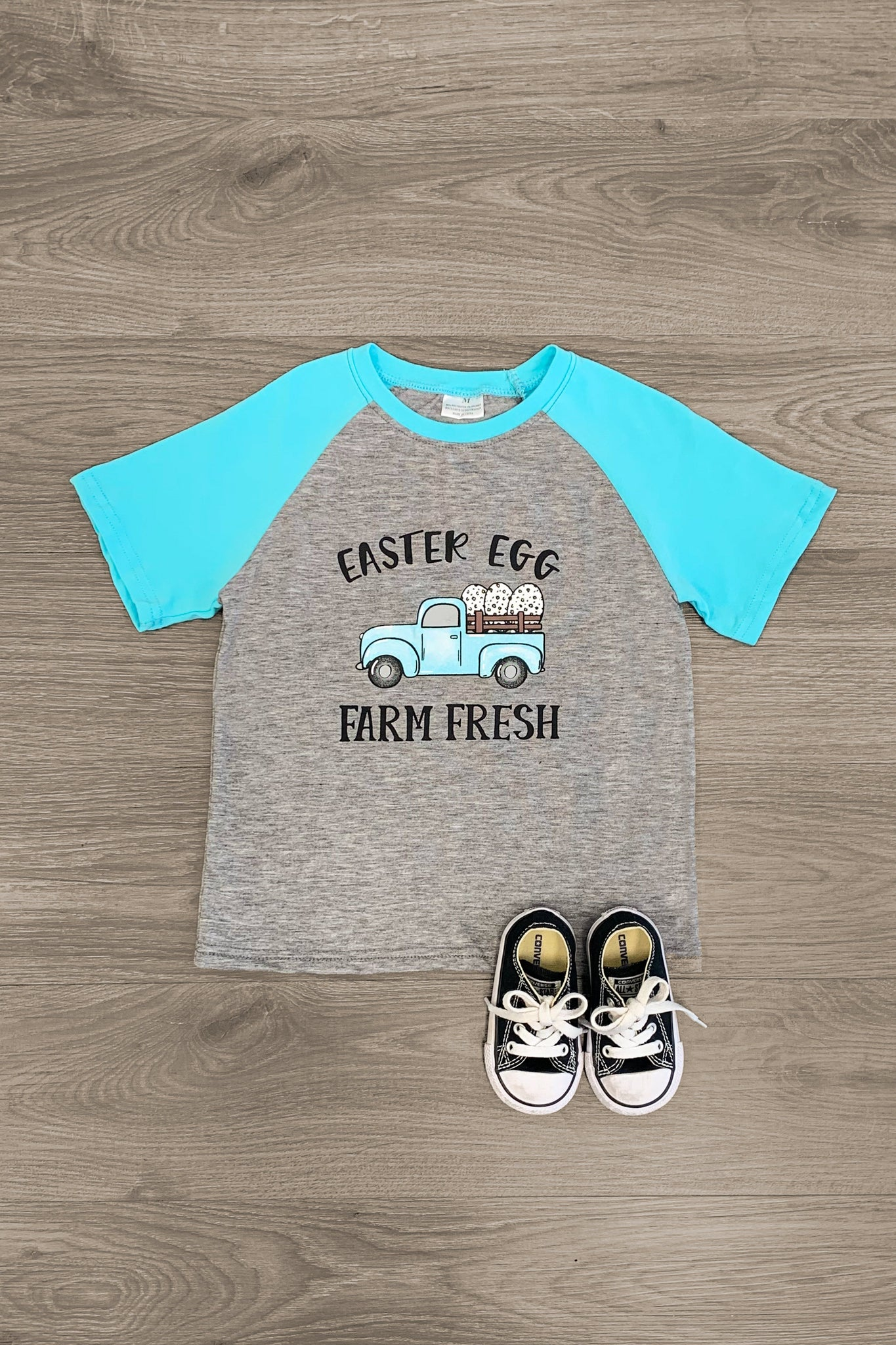 """Easter Egg Farm Fresh"" T-Shirt - Sparkle in Pink"