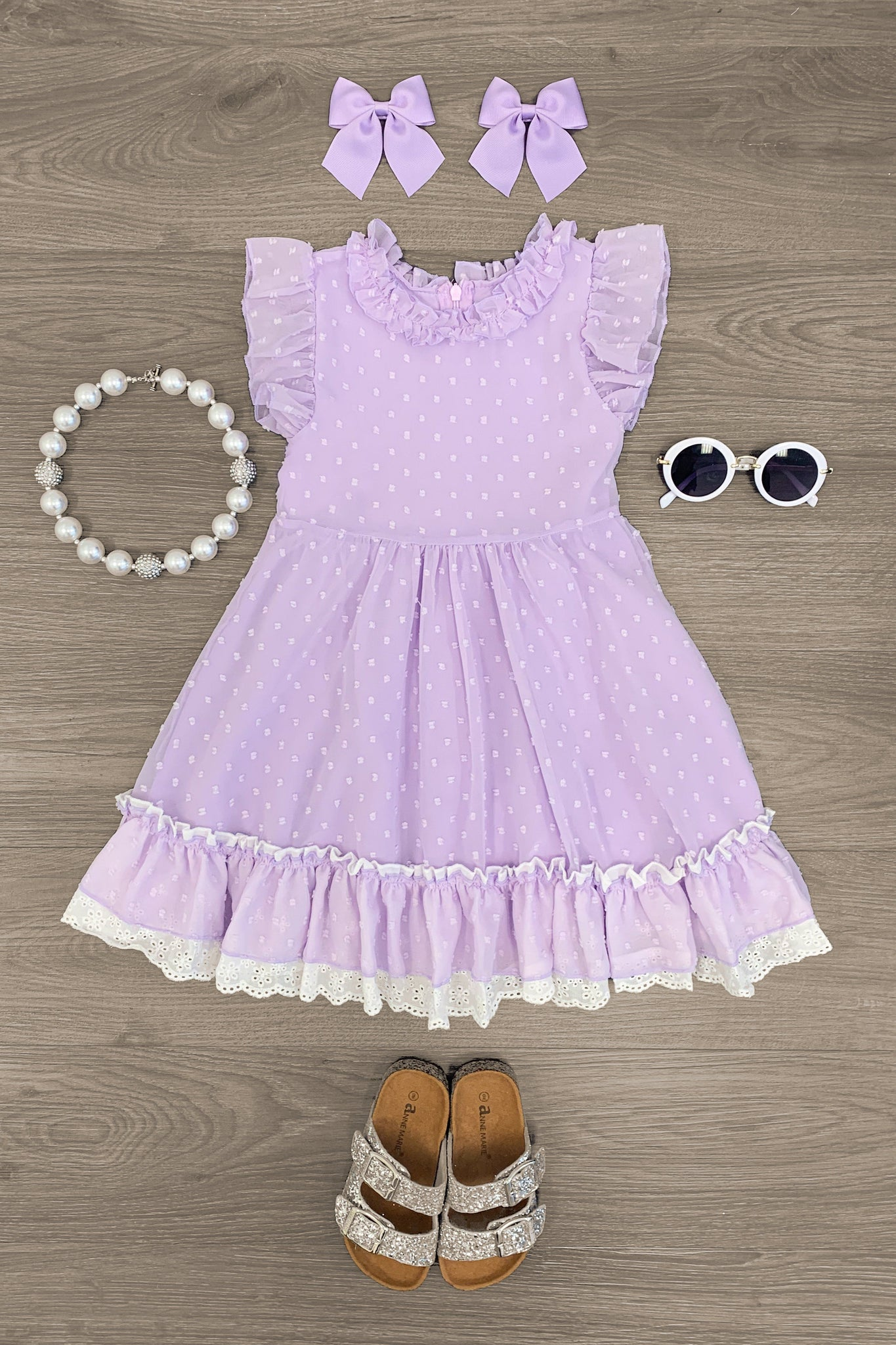 Lilac Spring Ruffle Dress - Sparkle in Pink