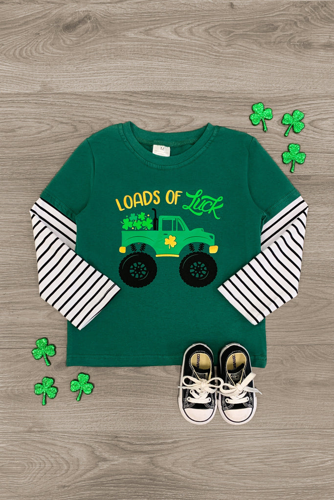 """Loads of Luck"" St. Patricks T-Shirt - Sparkle in Pink"