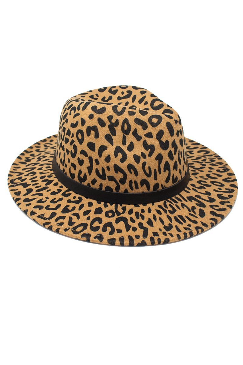 Mom & Me - Cheetah Felt Brim Hats - Many Colors! - Sparkle in Pink
