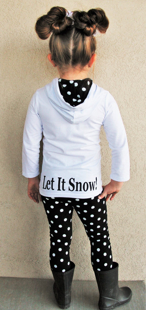 White Snowman Hoodie Pant Set - RESTOCKED!** - Sparkle in Pink