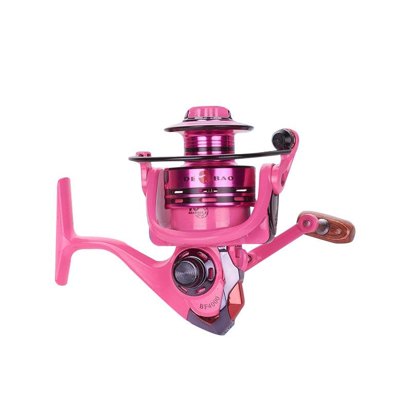 OhCoolstule™ Fishing Reel Spinning Reel Pink/Green 10+1 BB Ratio 5.2:1 Metal - OhCoolstule
