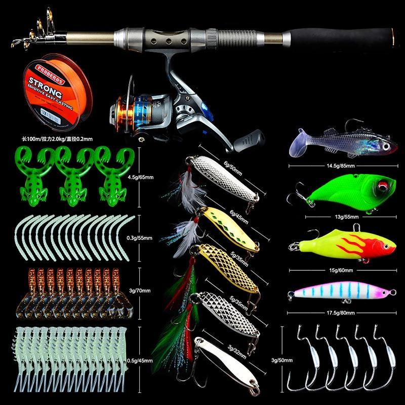 OhCoolstule™Telescopic Fishing Rod Spinning Reel Combo Full Kit Tackle - OhCoolstule