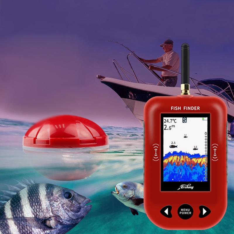 OhCoolstule™ Fishing Fish Finder 433Mhz 200M Distance Russian Protable Sonar Color LCD Screen Echo Sounder Fishing - OhCoolstule