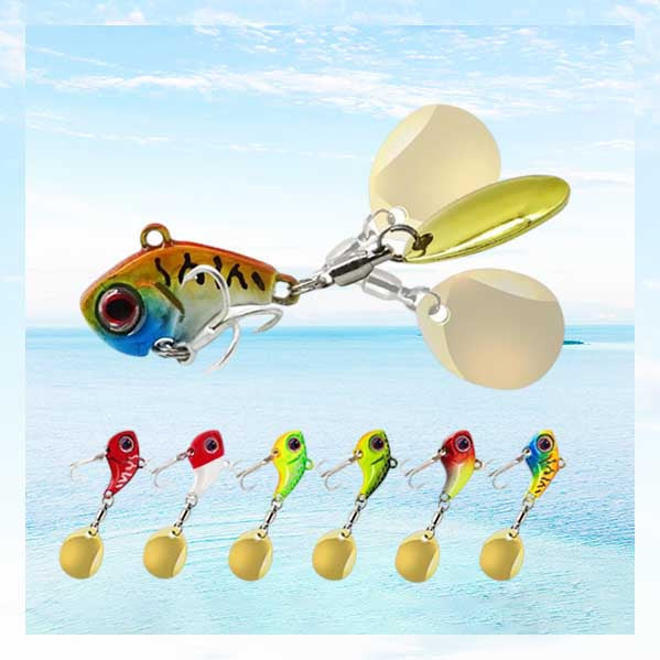 OhCoolstule™Fishing Lure Kits Sinking Sequins Baits Metal VIB 6Pcs
