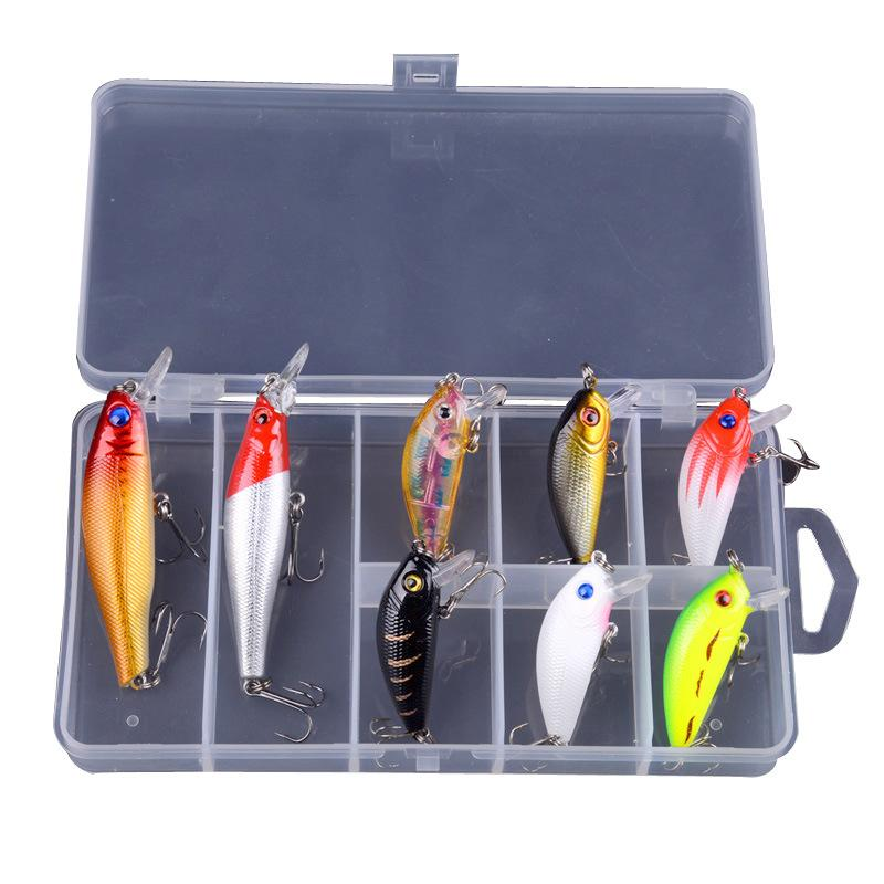 OhCoolstule™ Fishing Lure Kit Minnow Floating Lure With Box 8Pcs - OhCoolstule