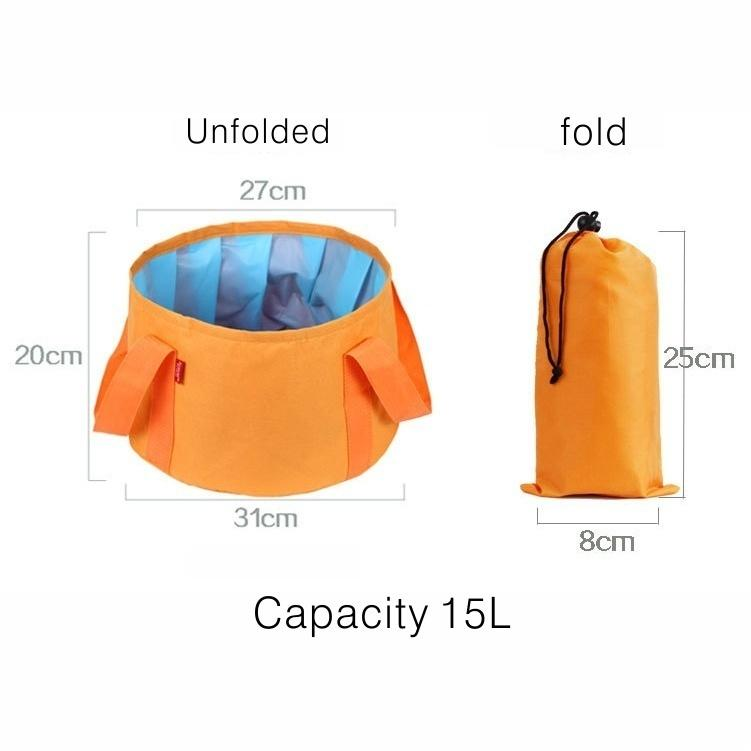 Outdoor Travel Portable Folding Bucket Camping With Folding Wash Basins Field Survival Supplies Fishing Bucket - OhCoolstule