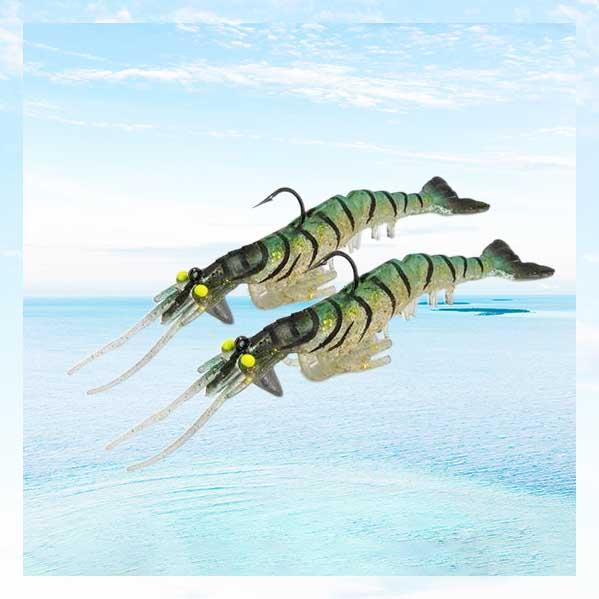 OhCoolstule™ Fishing Lure Soft Big Shrimp Bait 13.5 cm 13.7g 4Pcs
