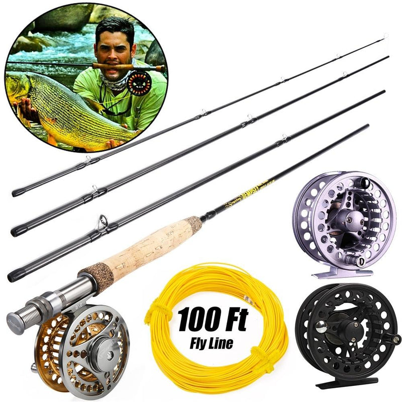 Fly Fishing Rods Set 9FT #5/6wt Fly Rod and Reel Combos Set Fishing Tackle - OhCoolstule
