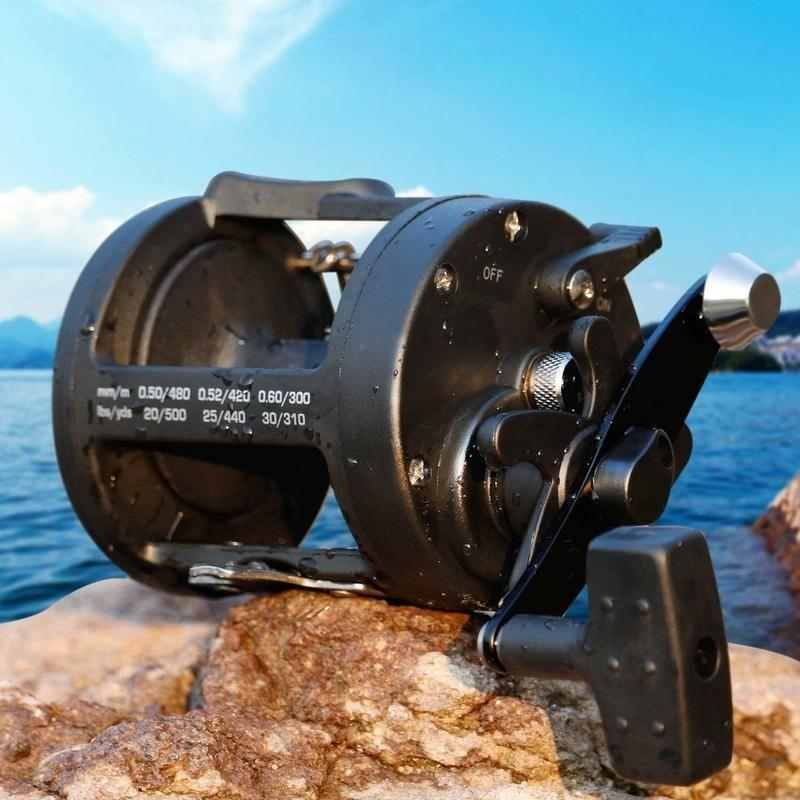 Fishing Reels Saltwater Trolling Casting Level Wind Reel  Saltwater Boat Ocean Fishing Reel for Sea Bass Grouper Salmon - OhCoolstule