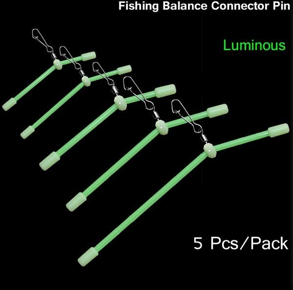 5 Pcs/Pack Luminous Fishing Balance Connector Swivel Pin. Copper alloy Fishing Hooks Connection Rolling Ring. Fishing Supply Swivel Accessory - OhCoolstule