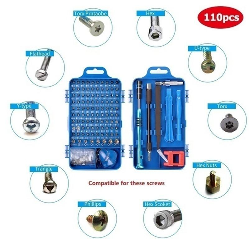 115-in-1 Sets Screwdriver Set Multi-function Computer PC Mobile Phone Cellphone Digital Electronic Device Repair Home Tools Bit(32-in-1/45-in-1/110-in-1) - OhCoolstule