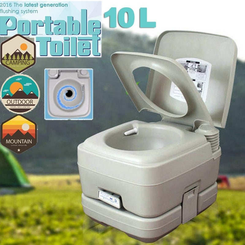 10L/20L Portable Camping Toilet Flush Porta Travel Outdoor Vehicle Boat Toilet Potty - OhCoolstule