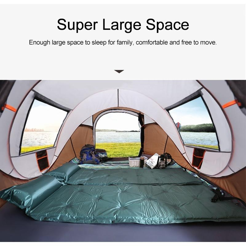 [3 IN 1,For 5-8 Person] Auto Setup Large Camping Tent Two Size Waterproof UV ResistanceSun Shelters For Hiking Fishing Travel Beach - OhCoolstule