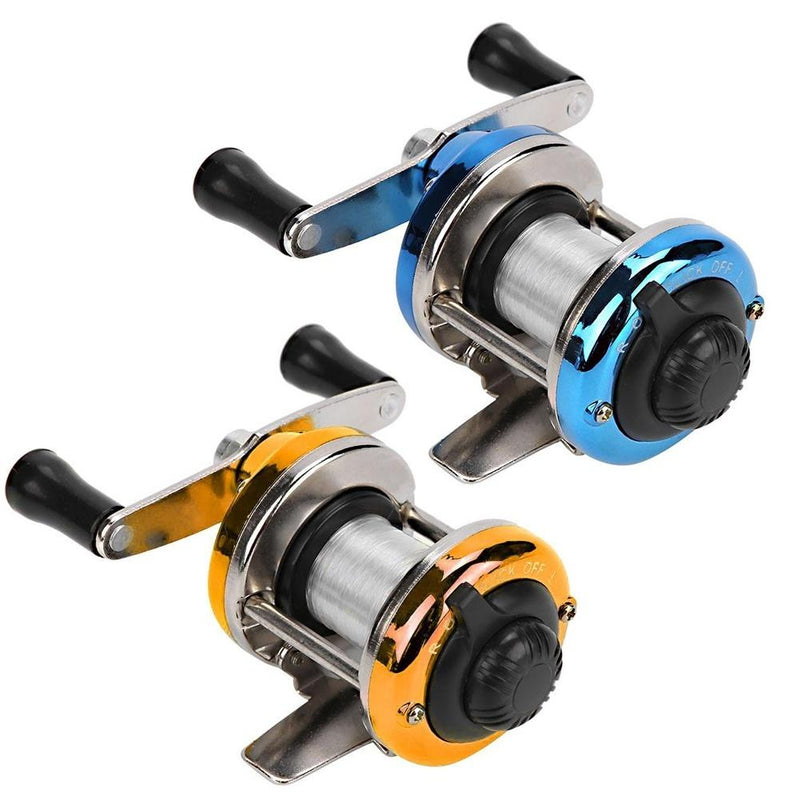 OhCoolstule™ Small Ice Fishing Wheel Winter Fishing Small Drum Wheel Double Rocker Arm Metal Main Belt Fishing Wheel - OhCoolstule