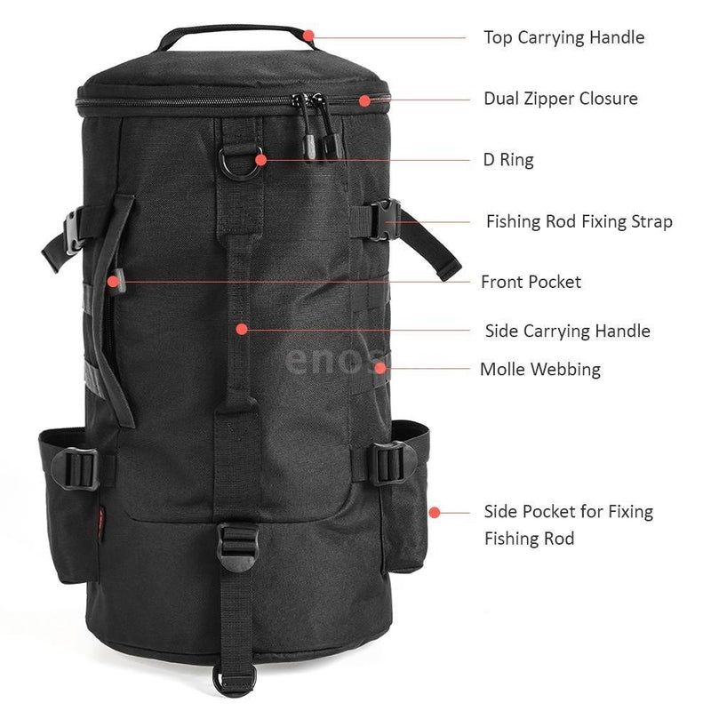 Multi-purpose Fishing Backpack Outdoor Travel Fishing Rod Reel Tackle Bag Shoulder Bag Luggage Bag - OhCoolstule