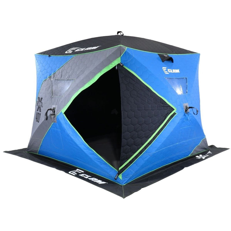 Clam X400 Thermal 4-6 Person Outdoor Portable Pop Up Ice Fishing Shelter Tent - OhCoolstule