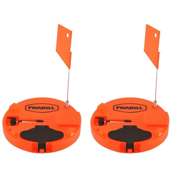 "Frabill Pro Thermal Ice Fishing Tip Up Trap for Up to 10"" Hole, Orange (2 Pack) - OhCoolstule"