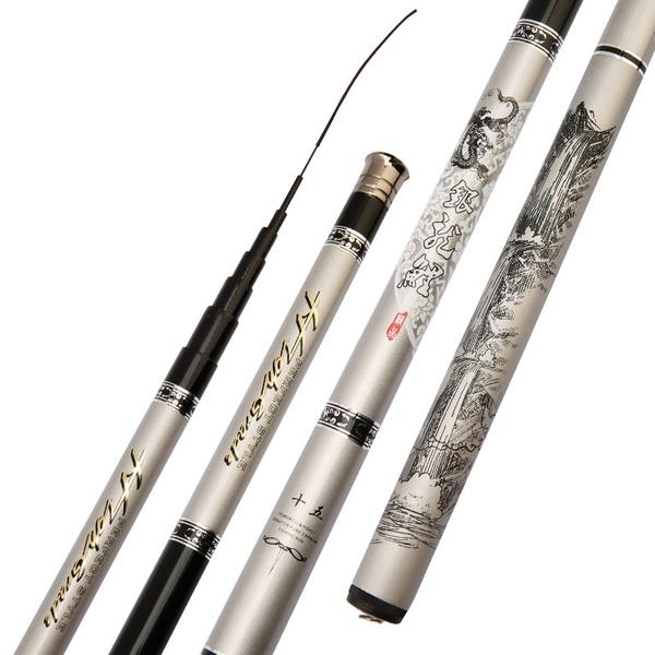 2.7m-7.2m High Carbon Super Hard Ultra-light Fishing Rod Stream Fishing Pole telescopic fishing rod Fishing Gear Tackle - OhCoolstule